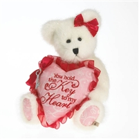 Valentine Bear with Heart Key - Boyds 8in Plush Bear, 4026184