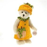 Boyds 12in 'Punkin' Patchbeary' Plush Bear in Pumpkin Dress, 4027335