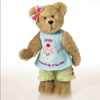 Boyds 12 in Plush Bear in Ice Cream Shirt, 4032724