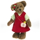 Boyds 14in 'Cortland Appleseed' Plush Bear in Apple Dress, 4034125