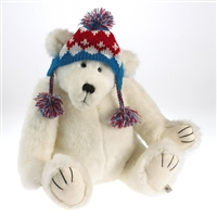 Boyds 16-inch Plush Polar Bear in Knit Winter Hat, 4034608
