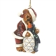 Bearstone Santa Hugging Penguin - Boyds, Jim Shore Ornament, 4035834