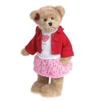 Boyds 12-inch Plush Valentine Girl Bear, 4038182