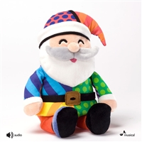 Britto 10 inch Musical Plush Santa Claus, 4027878