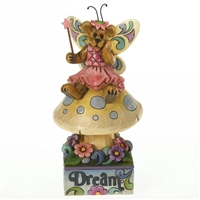 Bear Fairy on Mushroom Figurine By Boyds 4016483