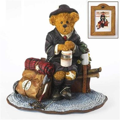 Boyds Norman Rockwell 'Home From Camp' Bear Figurine, 4020937