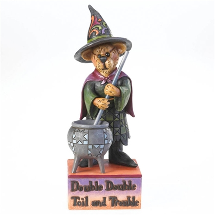 Boyds Witch Bear Stirring Cauldron Figurine by Jim Shore, 4022299