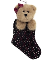 Boyds 8in 'Peggy Sue Stuffins' Plush Bear in Stocking, 562415