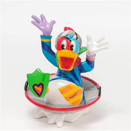 Britto Donald Duck in Disk Sled Disney Figurine, 4046360