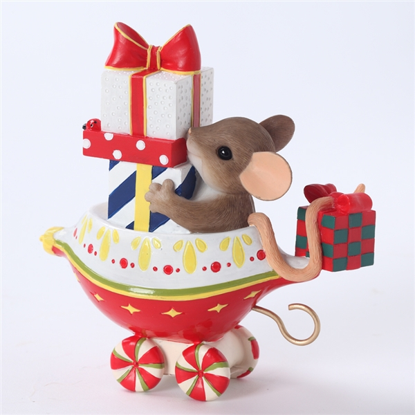 Charming Tails Holiday Ornament Express Car #1 Figurine