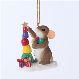Charming Tails Mouse Stacking Candy Christmas Tree Ornament, 4027670