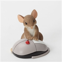 Mouse with Computer Mouse - Charming Tails Figurine, 4033014