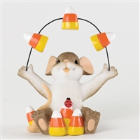 Mouse Juggling Candy Corn - Charming Tails Halloween Figurine, 4034325