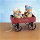 Patriot Boys in Wagon - Cherished Teddies Figurine, 111688
