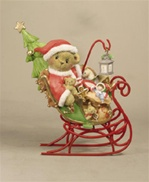Cherished Teddies Santa's Sleigh Is On It's Way Nate 118390