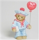 Sailor Holding Love Ballon - Cherished Teddies Figurine, 4004812