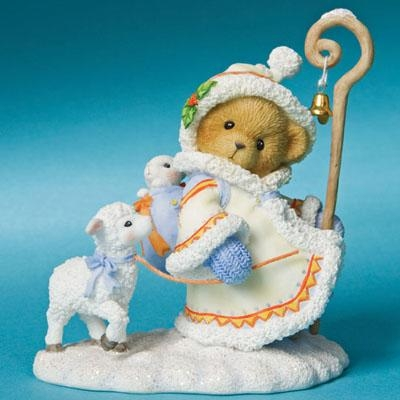 Winter Bear with Lamb and Staff - Cherished Teddies Figurine, 4008153