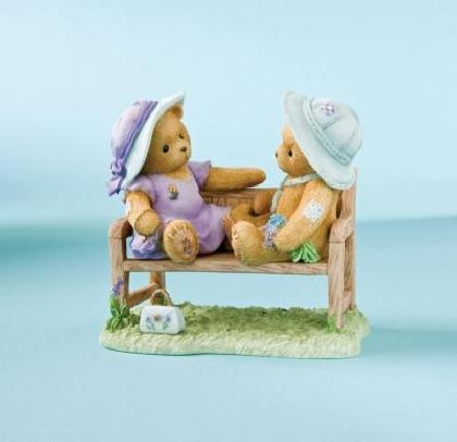 Boy and Girl Bears Sitting on Bench - Cherished Teddies Figurine, 4009584