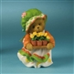 Bear Holding Potted Flowers - Cherished Teddies Figurine, 4012863