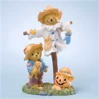 Bear with Halloween Scarecrow - Cherished Teddies Figurine, 4023638