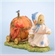 Bear Pulling Giant Pumpkin on Cart - Cherished Teddies Collectible Figurine, 4023639