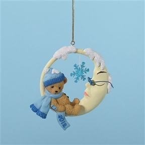 2012 Bear on Moon - Cherished Teddies Ornament, 4023651