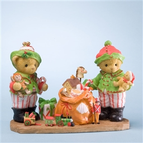 Elves with Toys - Cherished Teddies Figurine, 4023653
