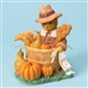 Thanksgiving Pilgrim Bear with Harvest - Cherished Teddies Figurine, 4023731