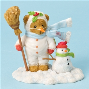 Bear Dressed as Snowman - Cherished Teddies Figurine, 4023733