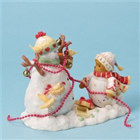 Bear Decorating Snowman - Cherished Teddies Figurine, 4023739
