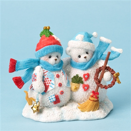 Snowman Friends - Cherished Teddies Figurine, 4023741