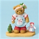 Girl in Christmas Outfit - Cherished Teddies Figurine, 402374