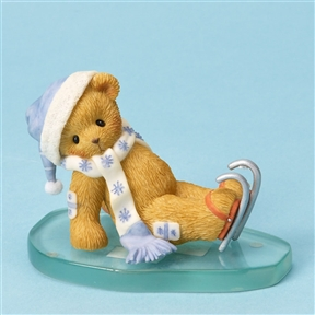 Bear Iceskater Slipped on Ice - Cherished Teddies Figurine, 4023744