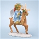 Angel Bear Riding Reindeer - Cherished Teddies Figurine, 4024323