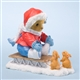Girl Bear on Sled with Bunnies - Cherished Teddies Figurine, 4024342