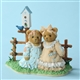 2 Girls at Fence with Blue Jay and Birdhouse, Cherished Teddies Figurine, 4025779