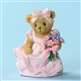 Cherished Teddies 'Breast Cancer Awareness Bear with Flowers' Figurine, 4029544