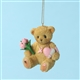 Cherished Teddies 'Breast Cancer Awareness' Bear Ornament, 4030480