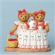 Girl Bears with Tea and Strawberries by Cherished Teddies Figurine 4031671