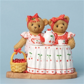 Girl Bears with Tea and Strawberries - Cherished Teddies Figurine, 4031671