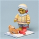 Winter Bear in Red Socks - Cherished Teddies Figurine, 4034603