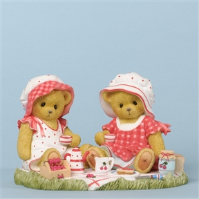 Tea and Cherries Picnic Bears - Cherished Teddies Figurine, 4035943