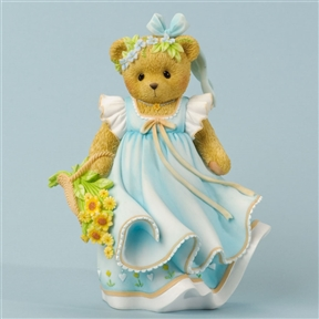 Bear in Dress with Flowers - Cherished Teddies Figurine, 4035944