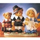 Thanksgiving Pilgrim Bear Family - Cherished Teddies Figurines, 707031