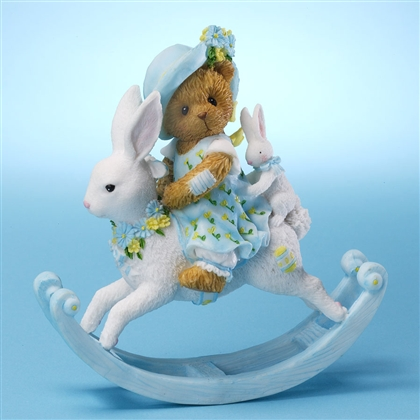 Girl Bear on Rocking Bunny - Cherished Teddies Figurine, 4025787