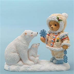 Cherished Teddies Snow Bear with Polar Bears Figurine, 4047389