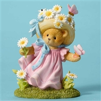 Cherished Teddies Bear with Daisies Figurine