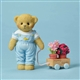 Cherished Teddies Bear with Flower Pots for Mom Figurine, 4051518