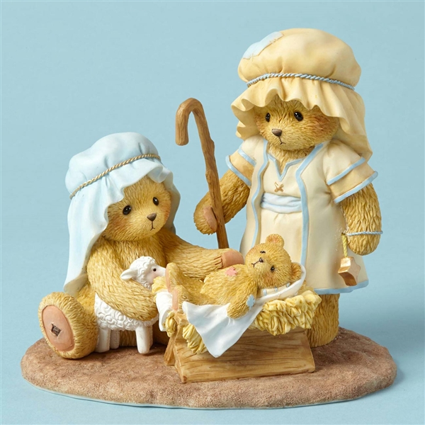 Cherished Teddies Jesus, Mary and Joseph Nativity 1st in Series Figurine