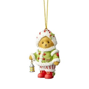 Cherished Teddies Bear with Lantern 2017 Dated Ornament